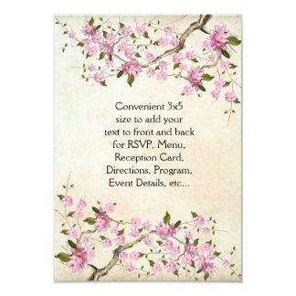 Pink Japanese Cherry Blossoms Wedding 9 Cm X 13 Cm Invitation Card