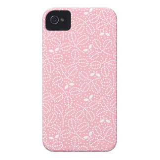 Pink Leaf Pattern iPhone 4/4S Case