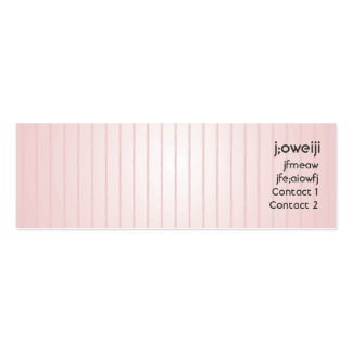 Pink Lines - Skinny Pack Of Skinny Business Cards
