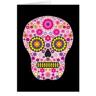 Pink Mexican Sugar Skull Greeting Card