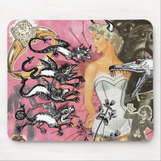 Pink Mouse pad Collage