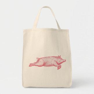 Pink Pig Organic Grocery Tote Grocery Tote Bag