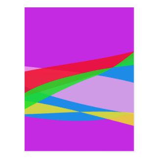 Pink Purple Minimalism Abstract Art Postcard