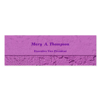 Pink Purple Stucco Texture Pack Of Skinny Business Cards