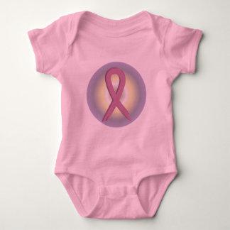 Pink Ribbon Colorful Breast Cancer Awareness Baby Tee Shirt