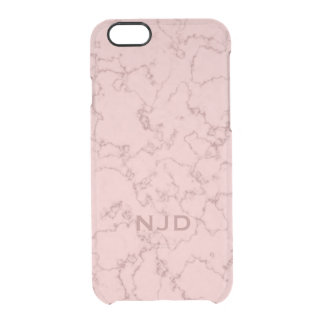 Pink Rose Quartz Marble Personalized iPhone 6/6s Clear iPhone 6/6S Case