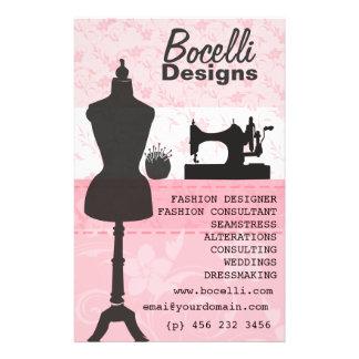 Pink Seamstress Fashion - Dress Form Mannequin 14 Cm X 21.5 Cm Flyer