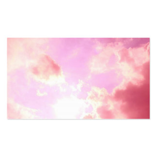 Pink Sky Pack Of Standard Business Cards