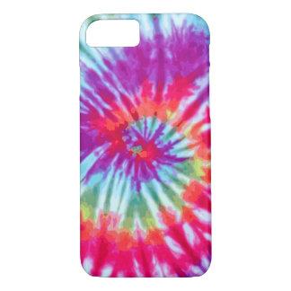 Pink Spiral Tie-Dye iPhone 7 case