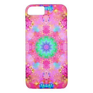 Pink Stars & Bubbles Fractal Pattern iPhone 7 Case