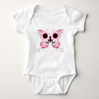 Pink Sugar Skull Butterfly Tshirts