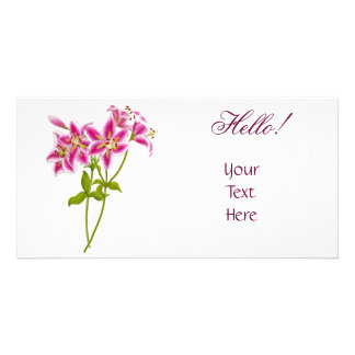Pink Tiger Lily Photo Card