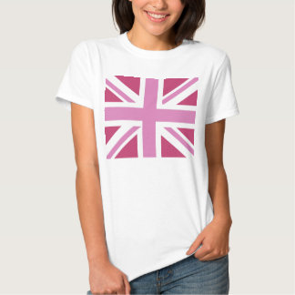 PINK TRENDY UNION JACK TEES