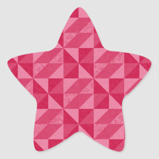 Pink Triangle Artistic Abstract Pattern Star Sticker