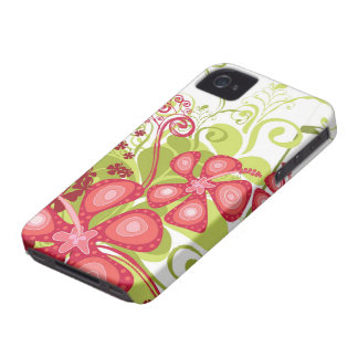 Pink Tropical Hibiscus Abstract iPhone 4 CaseMate Case-Mate iPhone 4 Cases