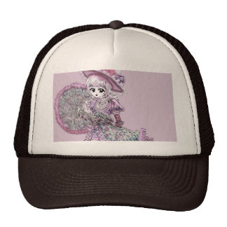 Pink Victorian Anime Girl Gothic Lolita Vintage Cap