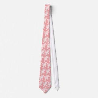 Pink/White Baby Footprints Tie