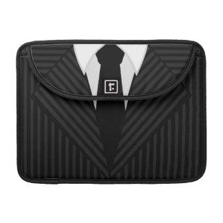 "Pinstripe Suit and Tie 13"" Macbook Pro Sleeve"