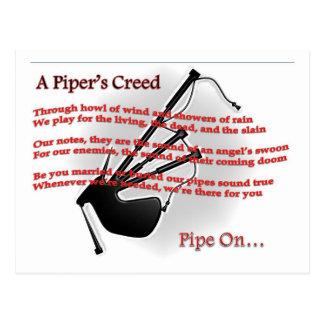 Piper's Creed Postcard