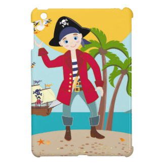 Pirate kid birthday party cover for the iPad mini