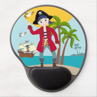 Pirate kid birthday party gel mouse pad