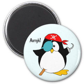 Pirate Penguin 6 Cm Round Magnet