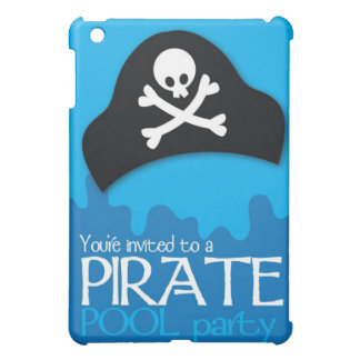 Pirate pool party invitation iPad mini cover