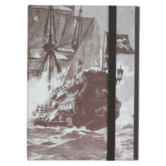 PIRATE SHIP BATTLE IN black iPad Air Cover