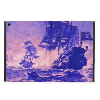 PIRATE SHIP BATTLE IN purple blue Cover For iPad Air