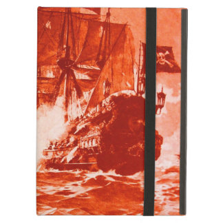 PIRATE SHIP BATTLE IN red iPad Air Cases
