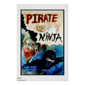 PIRATE vs NINJA Poster