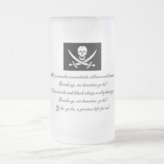 PirateLife,GlassMug Frosted Glass Mug