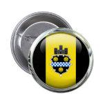 Pittsburgh Flag Glass Ball 6 Cm Round Badge