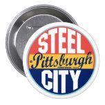 Pittsburgh Vintage Label 7.5 Cm Round Badge