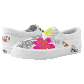 PixDezines Hawaiian Jungle/DIY background color Printed Shoes