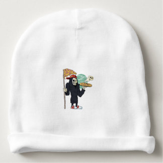 Pizza delivery reaper grim baby beanie