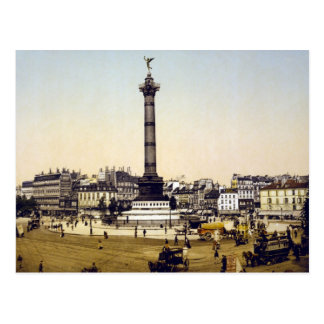 Place de la Bastille, 1900, Paris Postcard