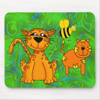 Placemat Kids Cheetah Tiger Bee Mouse Pad