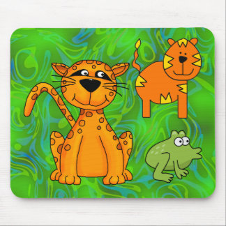 Placemat Kids Cheetah Tiger Frog Mouse Pad