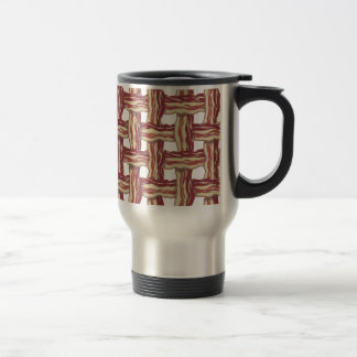 Plaid Bacon Design Stainless Steel Travel Mug