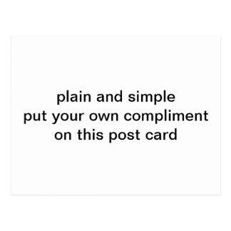 plain and simple postcard
