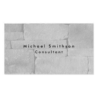Plain Elegant Modern Grey Wall Pack Of Standard Business Cards
