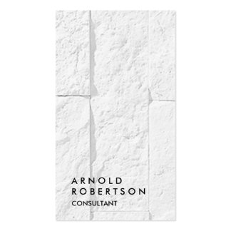 Plain Grey Wall Modern Consultant Business Card