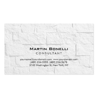 Plain Wall Brick Modern Consultant Business Card