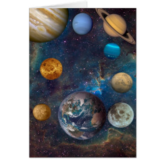 Planet Dreams of the Cosmos -1 Greeting Card