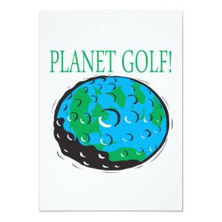 Planet Golf 13 Cm X 18 Cm Invitation Card
