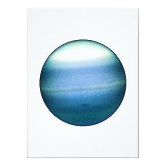 PLANET URANUS (solar system) ~~ 17 Cm X 22 Cm Invitation Card