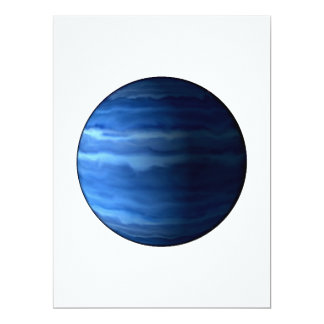 PLANET URANUS v2 (solar system) ~~ 17 Cm X 22 Cm Invitation Card