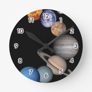 Planets of the solar system wallclock