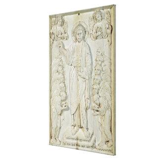 Plaque depicting Christ blessing the Apostles Canvas Prints
